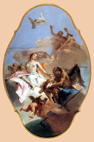 Giambattista (Giovanni Battista) Tiepolo - Venus gibt ihr Kind in Obhut