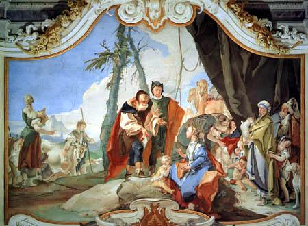 Giambattista (Giovanni Battista) Tiepolo - Rahel und ihr Vater Laban