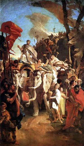 Giambattista (Giovanni Battista) Tiepolo - Triumph des Scopio