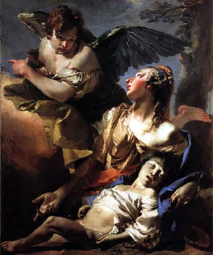 Giambattista (Giovanni Battista) Tiepolo - Stärkung der Hagar durch einen Engel