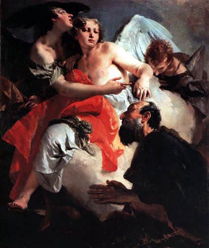 Giambattista (Giovanni Battista) Tiepolo - Die Engel erscheinen Abraham