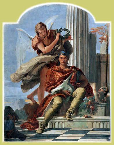 Giambattista (Giovanni Battista) Tiepolo - Die Tugend krönt die Ehre