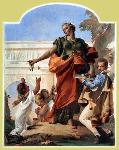 Giambattista (Giovanni Battista) Tiepolo - Die Großmut verteilt ihre Gaben