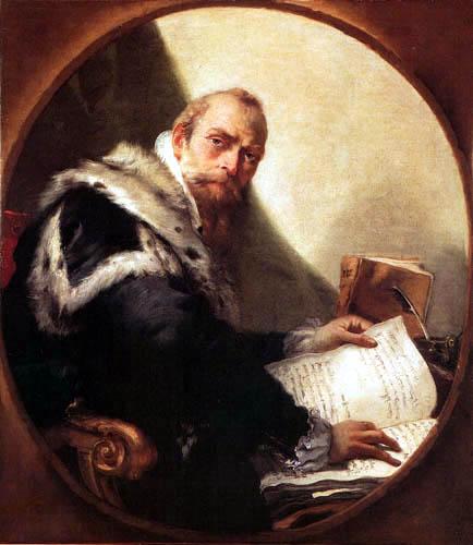 Giambattista (Giovanni Battista) Tiepolo - Porträt Antonio Riccobono