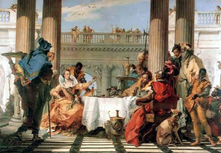 Giambattista (Giovanni Battista) Tiepolo - El banquete de Cleopatra