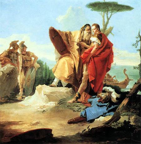 Giambattista (Giovanni Battista) Tiepolo - Rinaldo und der Zauberer von Ascalon