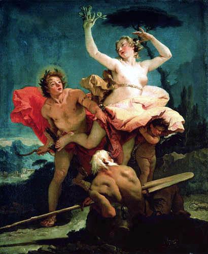 Giambattista (Giovanni Battista) Tiepolo - Apoll und Daphne