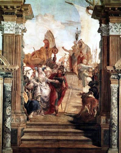 Giambattista (Giovanni Battista) Tiepolo - Antony meets Cleopatra