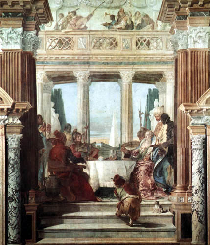 Giambattista (Giovanni Battista) Tiepolo - Das Gastmahl der Kleopatra