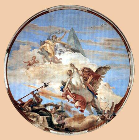 Giambattista (Giovanni Battista) Tiepolo - Bellorophon auf Pegasus