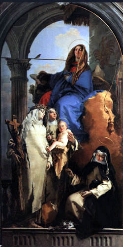 Giambattista (Giovanni Battista) Tiepolo - Madonna with St. Catherine