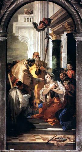 Giambattista (Giovanni Battista) Tiepolo - Die letzte Kommunion der hl. Lucia