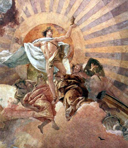 Giambattista (Giovanni Battista) Tiepolo - Apolo y los continentes, parte