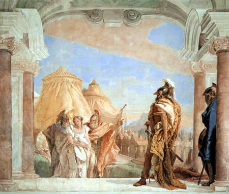 Giambattista (Giovanni Battista) Tiepolo - Briseida conducida hasta Agamenón