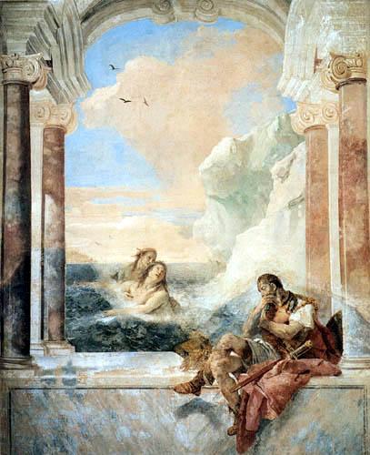 Giambattista (Giovanni Battista) Tiepolo - Thetis tröstet Achill