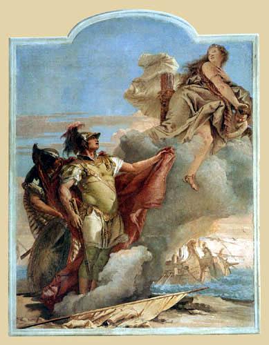 Giambattista (Giovanni Battista) Tiepolo - Venus erscheint Äneas