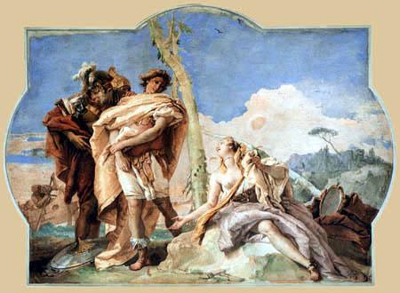 Giambattista (Giovanni Battista) Tiepolo - Rinaldo verläßt Armida
