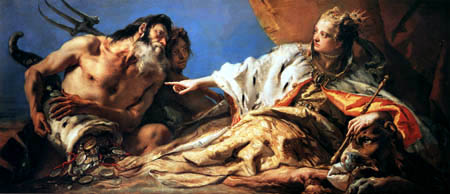 Giambattista (Giovanni Battista) Tiepolo - Neptune sacrifices his gifts to Venice