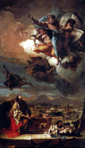 Giambattista (Giovanni Battista) Tiepolo - St. Thecla releases Este from the plague