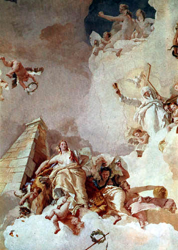 Giambattista (Giovanni Battista) Tiepolo - Glory of Spain, detail