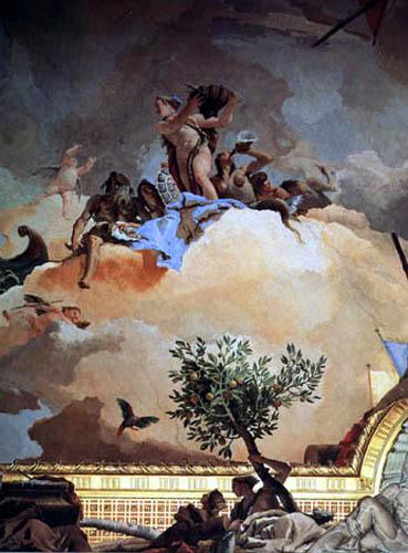 Giambattista (Giovanni Battista) Tiepolo - Glorie Spaniens, Detail