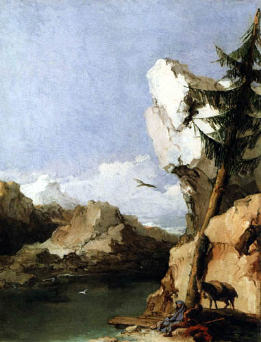Giambattista (Giovanni Battista) Tiepolo - Ruhe auf der Flucht nach Ägypten