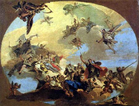 Giambattista (Giovanni Battista) Tiepolo - Der Triumph der Künste