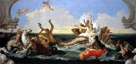 Giambattista (Giovanni Battista) Tiepolo - Der Triumph der Amphitrite