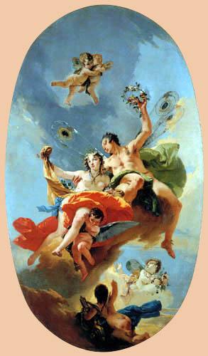 Giambattista (Giovanni Battista) Tiepolo - The Triumph of Zephir and Flora