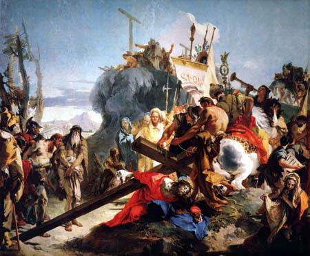Giambattista (Giovanni Battista) Tiepolo - Der Gang zum Kalvarienberg