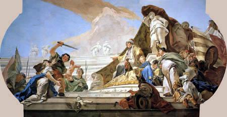 Giambattista (Giovanni Battista) Tiepolo - El Juicio de Salomón