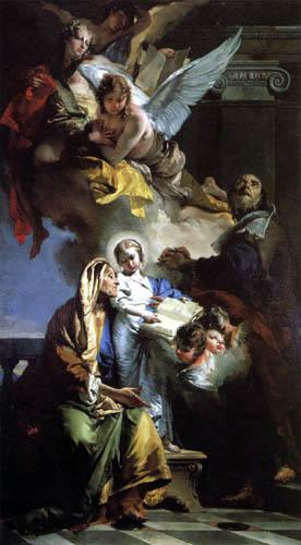 Giambattista (Giovanni Battista) Tiepolo - Die Erziehung der Jungfrau Maria