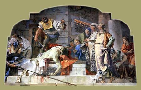 Giambattista (Giovanni Battista) Tiepolo - Die Enthauptung Johannes des Täufers