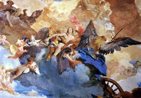 Giambattista (Giovanni Battista) Tiepolo - Der Lauf des Sonnenwagens, Detail