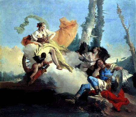 Giambattista (Giovanni Battista) Tiepolo - Armida verzaubert Rinaldo