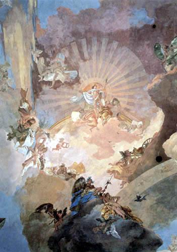 Giambattista (Giovanni Battista) Tiepolo - Apoll und die Kontinente, Detail
