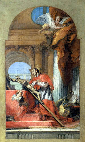 Giambattista (Giovanni Battista) Tiepolo - In adoration of the crucifix