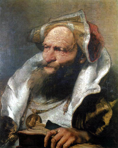Giambattista (Giovanni Battista) Tiepolo - Head of an Oriental