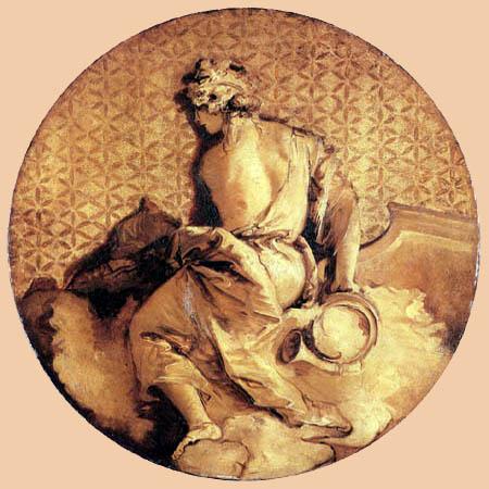 Giambattista (Giovanni Battista) Tiepolo - Érato, muse de l'amour et de la poésie