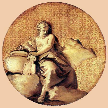 Giambattista (Giovanni Battista) Tiepolo - Terpsichore, Muse des Tanzes