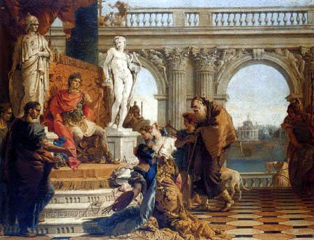 Giambattista (Giovanni Battista) Tiepolo - Die Künste werden Augustus präsentiert