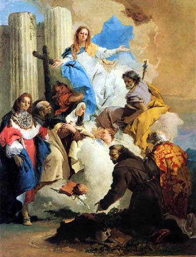 Giambattista (Giovanni Battista) Tiepolo - The Virgin with Saints