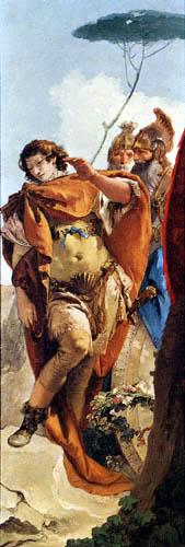 Giambattista (Giovanni Battista) Tiepolo - Rinaldo und der magische Spiegel