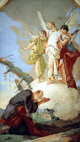 Giambattista (Giovanni Battista) Tiepolo - Abraham y los tres ángeles