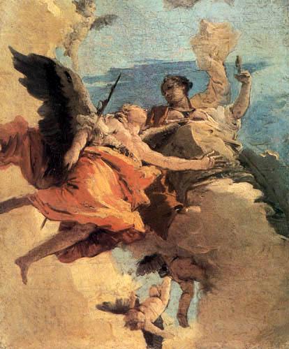 Giambattista (Giovanni Battista) Tiepolo - Allegorie an Tapferkeit und Weisheit