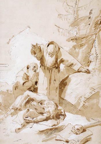 Giambattista (Giovanni Battista) Tiepolo - Hl. Fidelis von Sigmaringen und hl. Joseph von Leonessa