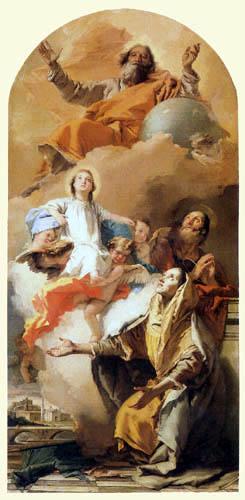 Giambattista (Giovanni Battista) Tiepolo - Die Vision der hl. Anna