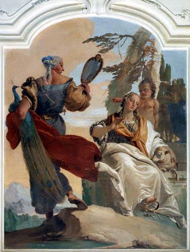 Giambattista (Giovanni Battista) Tiepolo - Die Bescheidenheit vertreibt den Hochmut