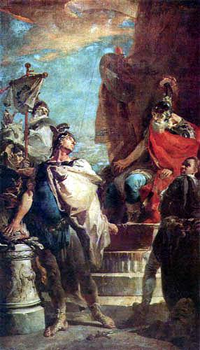 Giambattista (Giovanni Battista) Tiepolo - Mucius Scaevola im Feldlager des Porsenna