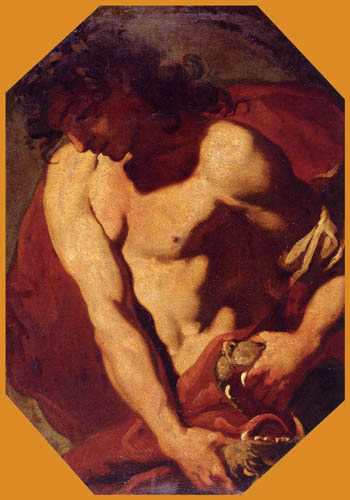 Giambattista (Giovanni Battista) Tiepolo - Samson und der Löwe
